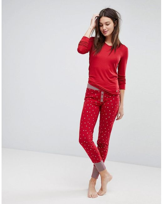 Esprit | Red Star Print Pyjama Bottoms | Lyst