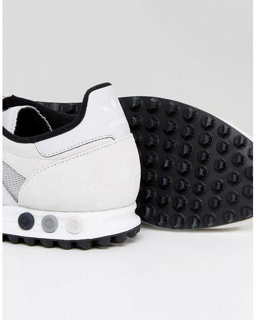 lyst adidas originali la formatori in grigio by9327 in grigio per gli uomini.