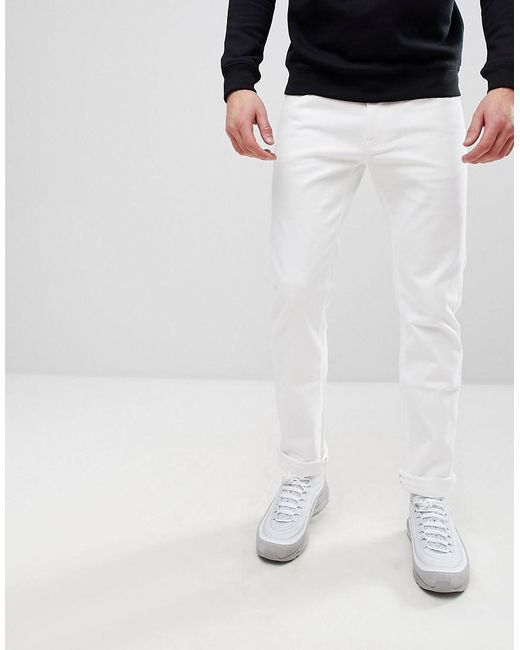 Armani Exchange - J13 Slim Fit 5 Pocket Stretch Jeans In White for Men - Lyst
