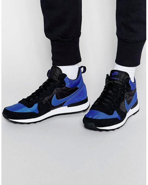 Nike | Blue Internationalist Mid Trainers 682844-404 for Men | Lyst