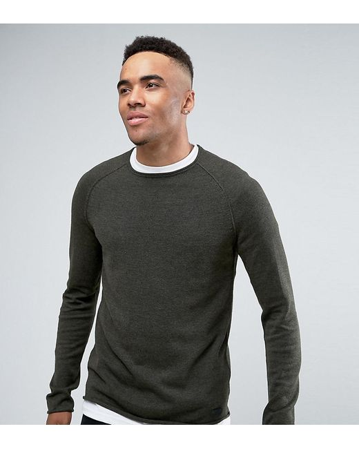 Blend   Green Roll Hem And Neck Sweater for Men   Lyst