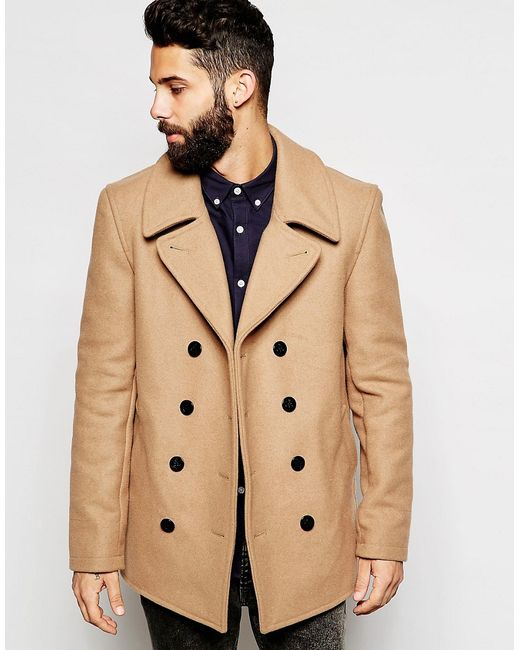 Gloverall | Natural Peacoat In Wool for Men | Lyst