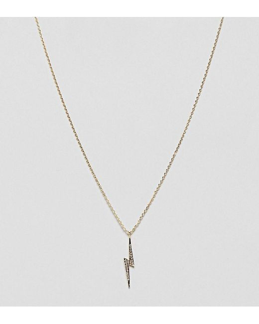 Estella Bartlett - Metallic Gold Plated Lightning Bolt Necklace - Lyst