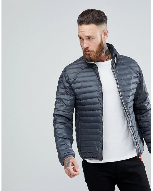 Hunter - Gray Padded Mid Layer Jacket In Grey for Men - Lyst