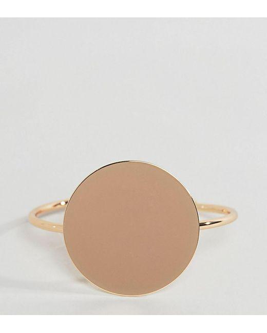 ASOS   Metallic Sleek Solid Circle Cuff Bracelet   Lyst