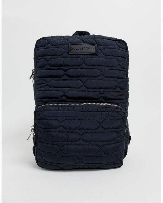 Hunter Black Refined Quilted Backpack