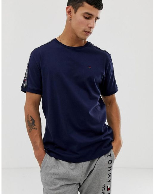 b634a1769 Tommy Hilfiger - Blue Authentic T-shirt Side Logo Taping In Navy for Men ...