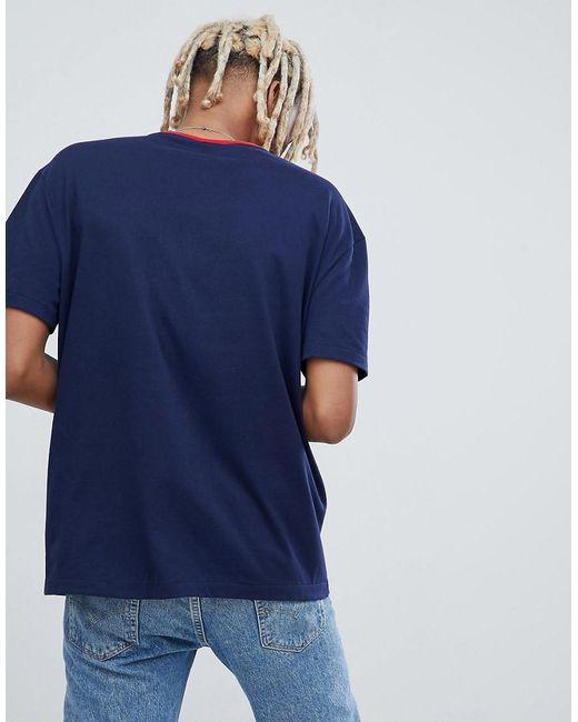 328bba3b8 ... Polo Ralph Lauren - Blue Hi Tech Capsule Box Logo T-shirt Ringer Neck In