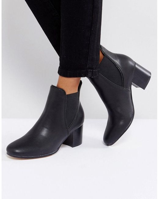 rebel kitten heel chelsea boots in black lyst