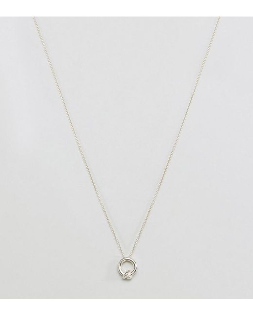 Dogeared   Metallic Sterling Silver Love You Sister Knot Necklace   Lyst