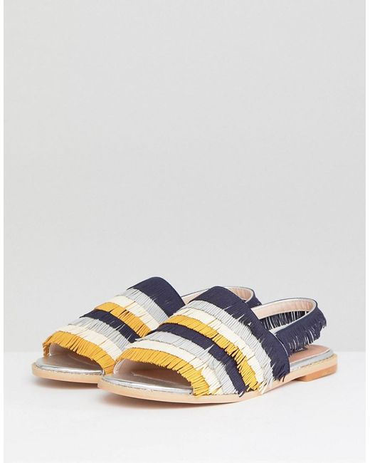 with mastercard cheap online Lost Ink Multi Fringe Flat Sandals sale popular IEsSDQ