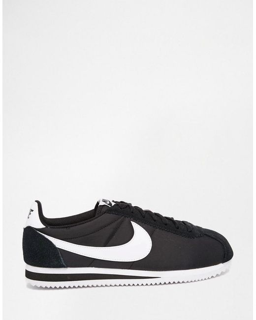 quality design 3404d 79f25 ... Nike - Classic Cortez Nylon Trainers In Black 807472-011 for Men - Lyst
