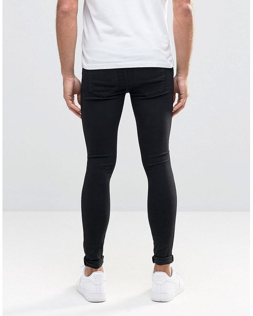 Dr Denim Dixy Extreme Super Skinny Jeans Black Ripped