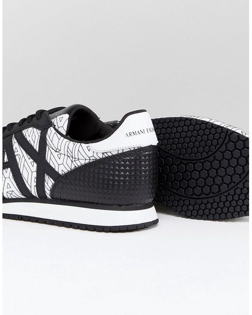Armani Ax All Over Logo Sneakers In 2yUbyIj3