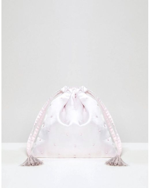 Vero Moda - Pink Pearl Fabric Bag - Lyst