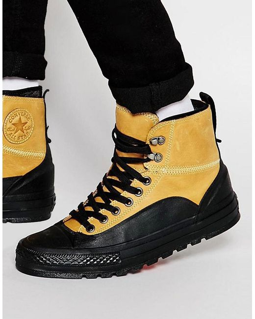 Converse   Yellow Chuck Taylor All Star Tekoa Plimsolls for Men   Lyst