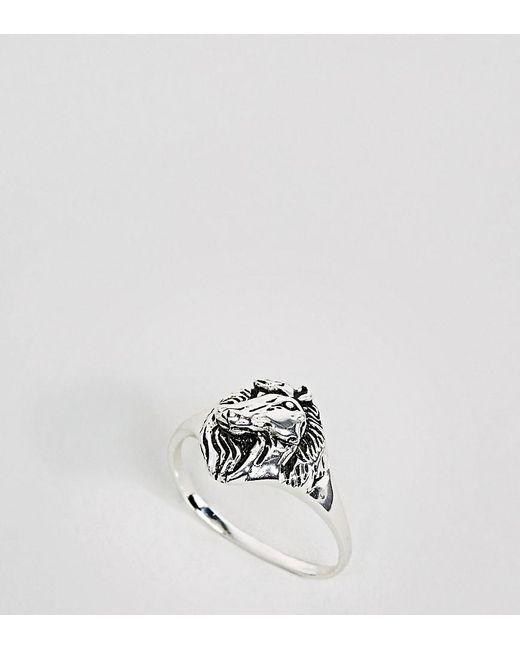 ASOS   Metallic Sterling Silver Horse Ring   Lyst