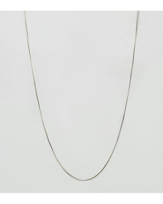 ASOS - Metallic Sterling Silver Chain for Men - Lyst