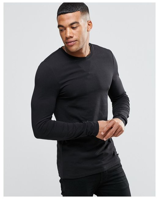Asos Extreme Muscle Long Sleeve T-shirt With Crew Neck in ...