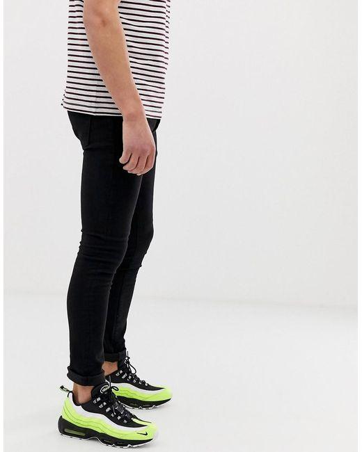 1b8175ce87f Lyst - Mennace Super Skinny Jeans In Black in Black for Men