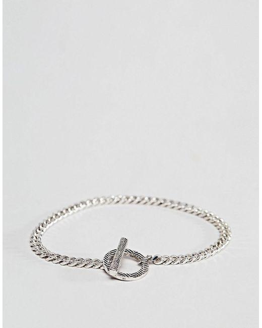 Icon Brand - Metallic Silver Chain Bracelet for Men - Lyst