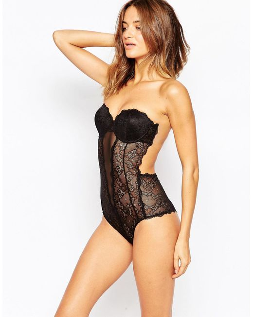 Fashion Forms | Black Lace Backless Strapless Body | Lyst