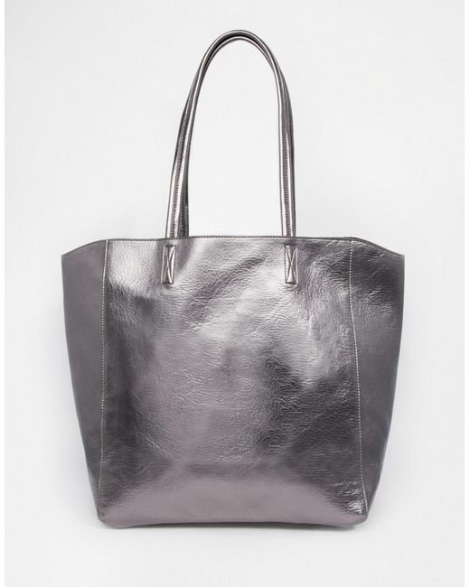 ASOS   Metallic Shopper Bag   Lyst