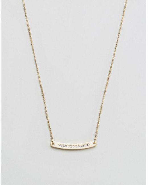 Pilgrim - Metallic Gold Plated Necklace - Lyst