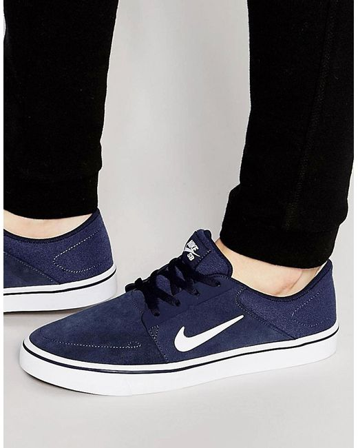 Nike | Blue Portmore Trainers 725027-413 for Men | Lyst