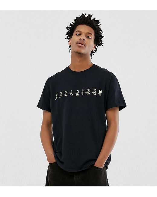 2401894591be Reclaimed (vintage) - Black Inspired Branded Rave T-shirt With Gold Print  for ...