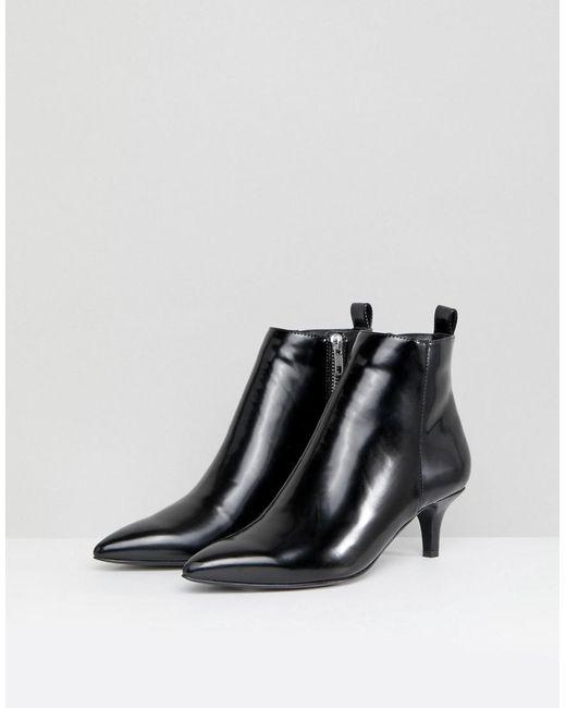 Monki Kitten Heel Ankle Boot CypoSAJl3