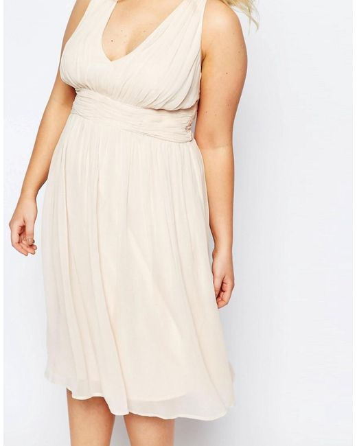 Asos Wedding Hollywood Midi Dress In White Lyst