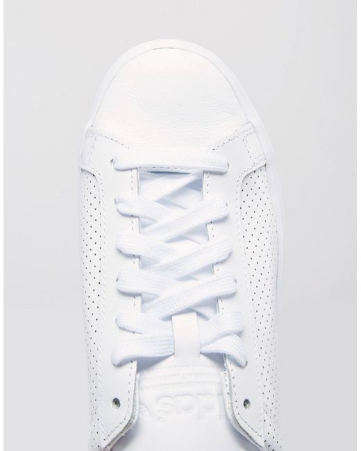 Adidas Originals Court Vantage White Perforated Trainers