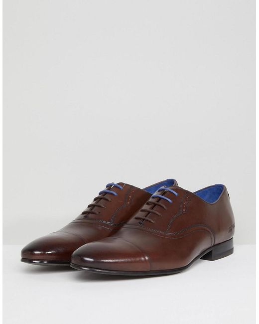 Murain Leather Oxford Shoes In Brown - Brown Ted Baker Cost For Sale Cheap For Sale Best Wholesale Sale Online Enjoy Free Shipping Outlet Store BjgK0