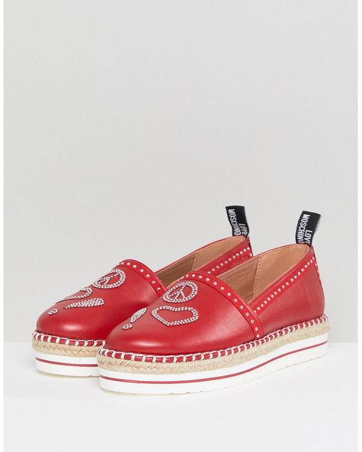 Love Moschino Espadrilles - red CmIqNi4y4M