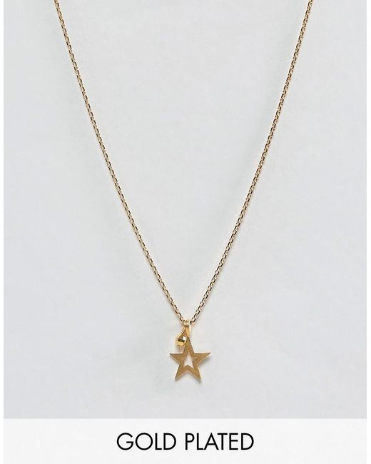 Dogeared   Metallic Gold Plated One In A Million Celestial Star Pendant With Sparkle Necklace   Lyst