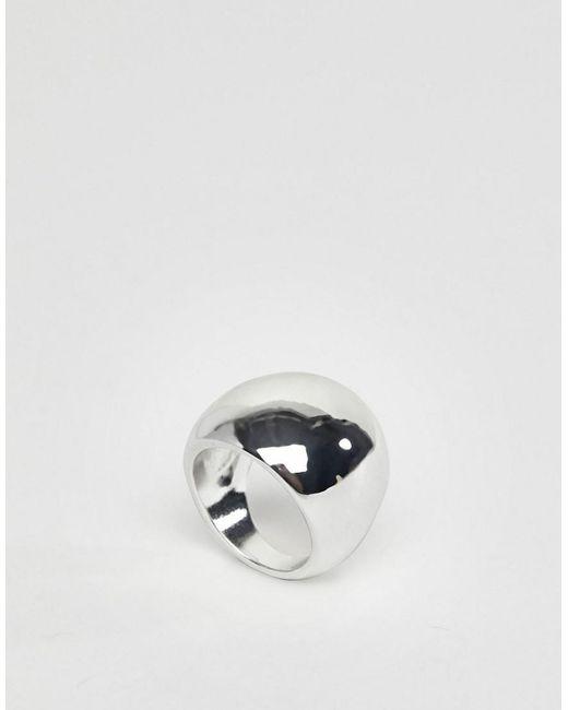Weekday - Metallic Chunky Ring - Lyst