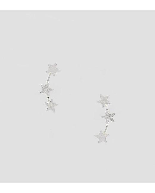Kingsley Ryan Metallic Sterling Silver Mini Star Ear Climber