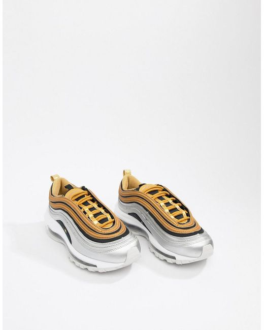 cheap for discount 52ab8 42e86 ... Nike - Black And Gold Metallic Air Max 97 Sneakers - Lyst