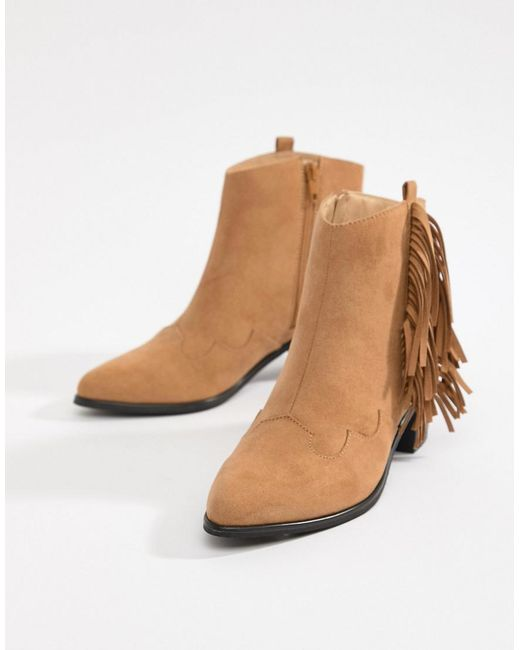 Miss Selfridge Exclusive fringed ankle boot Outlet Store Cheap Online New Fashion Style Of Outlet Best Sale Get Authentic Cheap Price o61wxYg6dP