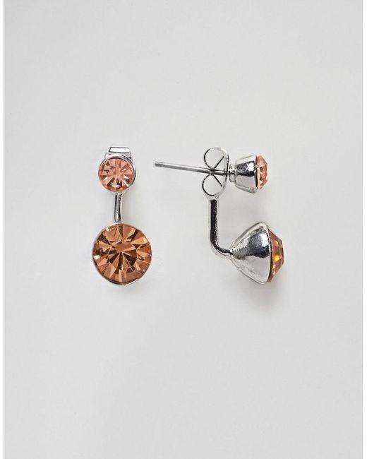 ASOS - Pink Jewel Swing Earrings - Lyst