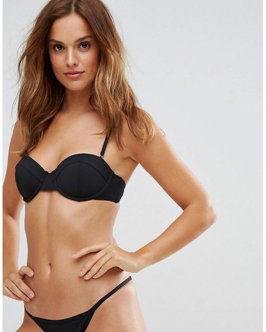 Bond-eye - Black Bond Eye Stargazer Balconette B/c Cup Bikini Top - Lyst