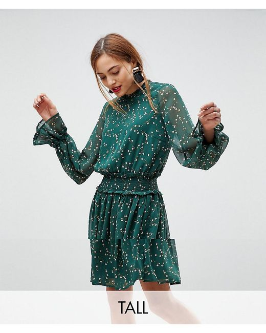 Y.A.S - Green Ditsy Floral Skater Dress - Lyst