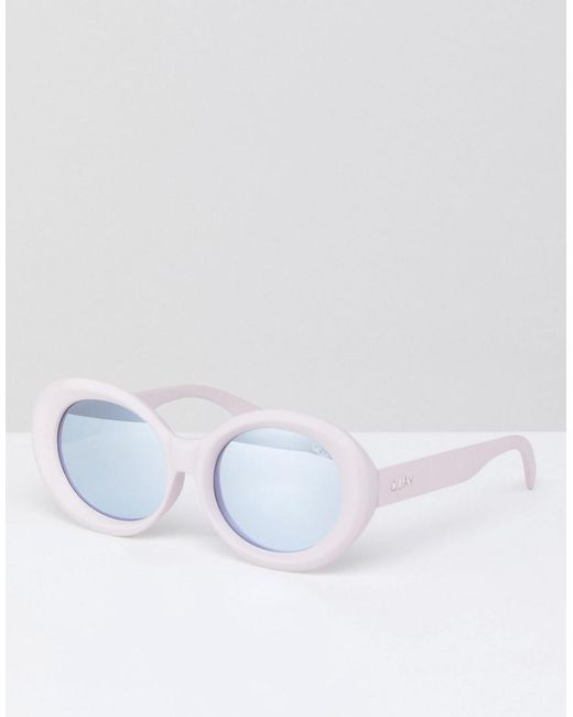 Quay - Mess Around Cat Eye Sunglasses In Pink for Men - Lyst