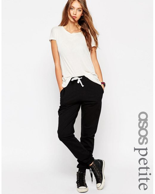 ASOS | White Petite Basic Joggers With Contrast Tie | Lyst