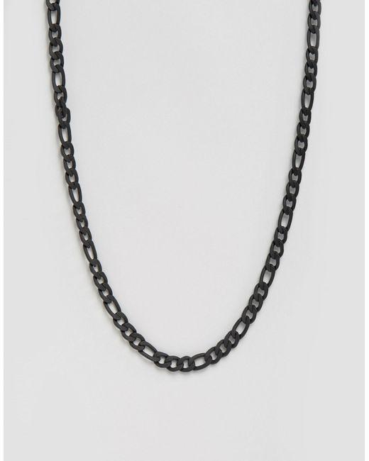 ASOS | Chunky Chain Necklace In Matt Black for Men | Lyst