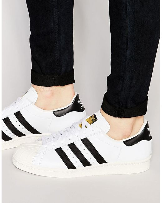 Adidas Originals | Superstar 80's Sneakers G61070 - White for Men | Lyst