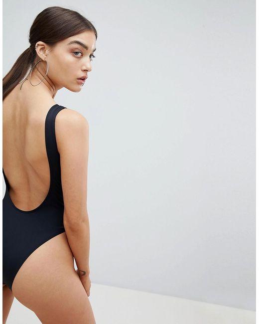 Paige Cut Out Plunge Swimsuit - Black Twiin Cheapest SgRU3lKW