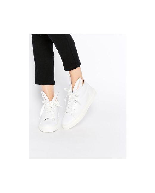 Minna Parikka | White Leather Bunny Ears High Top Trainers | Lyst