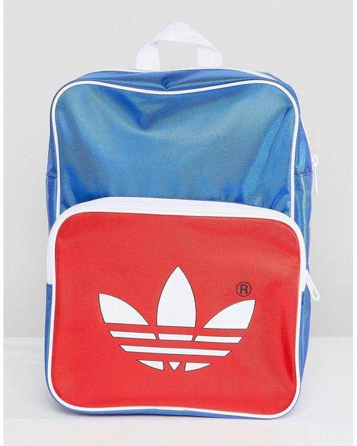 Adidas Originals - Adicolor Retro Backpack In Blue Cw2619 for Men - Lyst